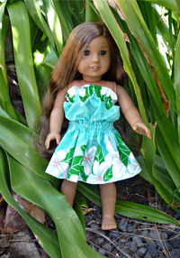 Doll Hula Costume