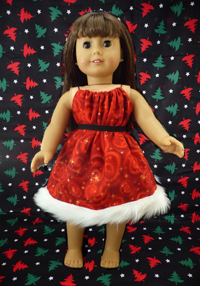 Doll Christmas Dress