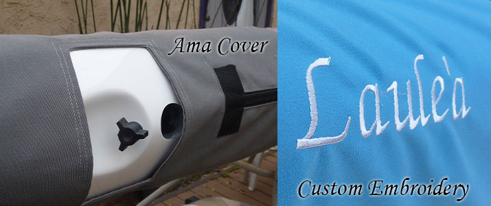 Ama Cover. Custom embroidery of text or images.